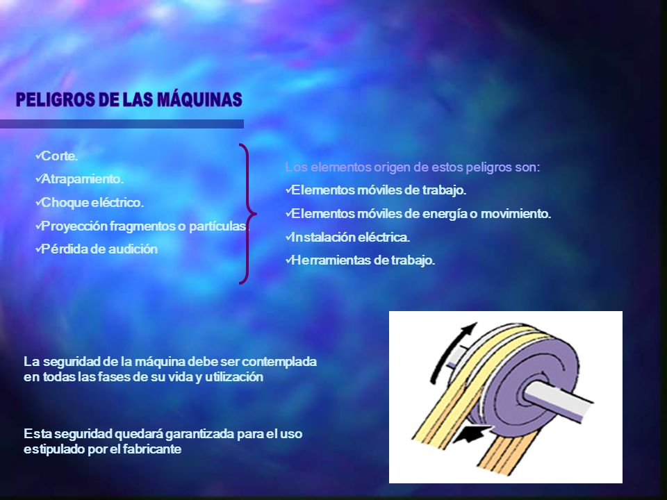 PELIGROS DE LAS MÁQUINAS