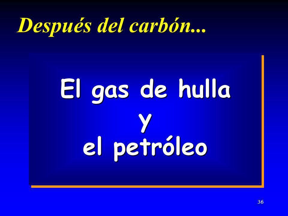 El gas de hulla y el petróleo