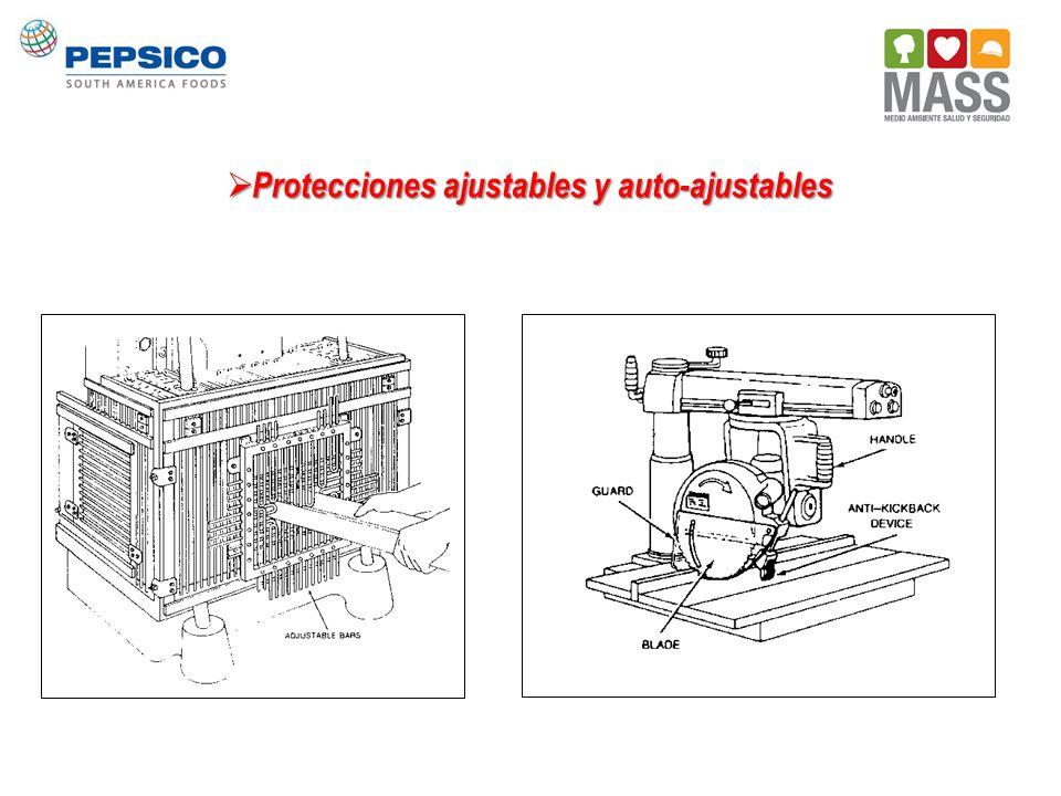 Protecciones ajustables y auto-ajustables