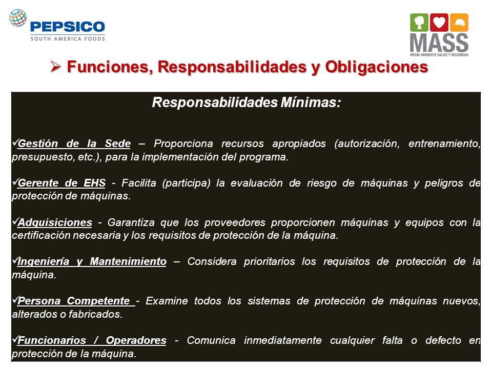 Responsabilidades Mínimas: