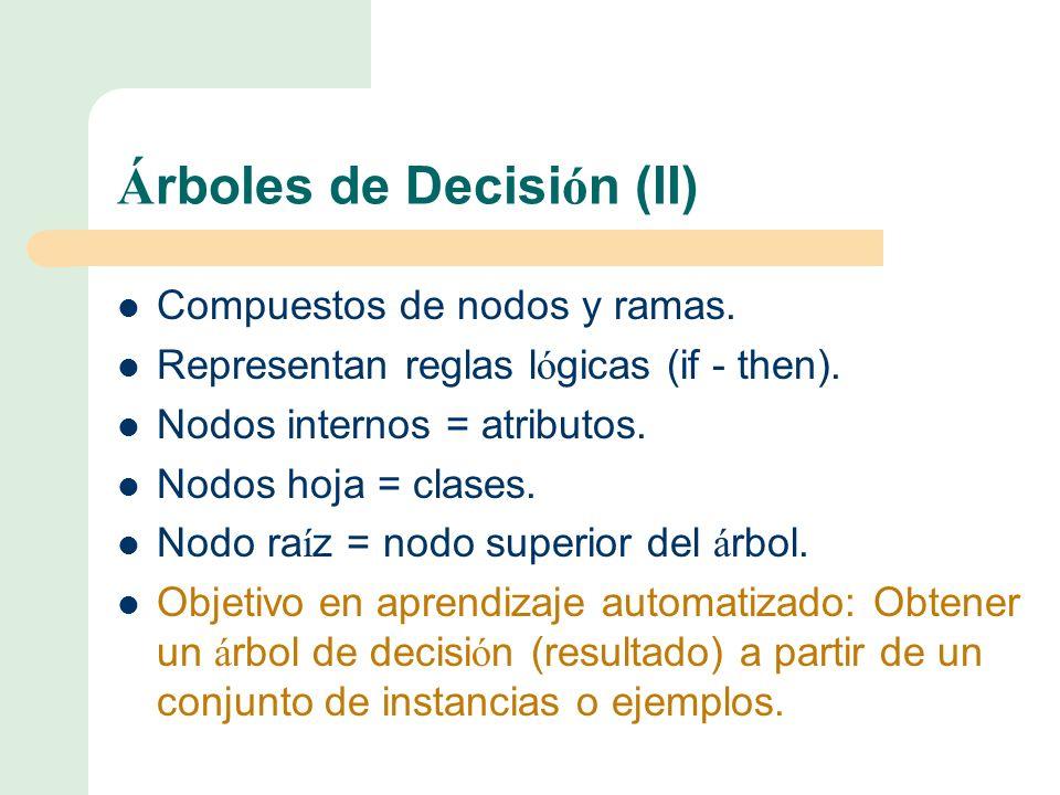 Árboles de Decisión (II)