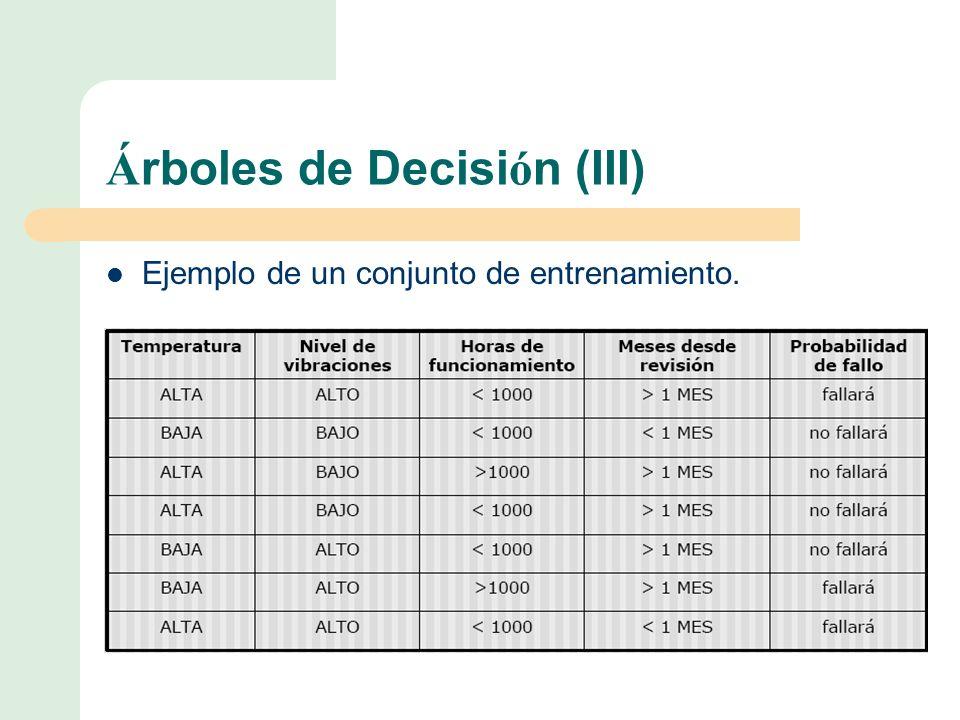 Árboles de Decisión (III)