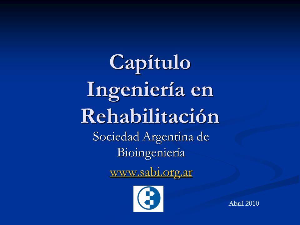 Capítulo Ingeniería en Rehabilitación