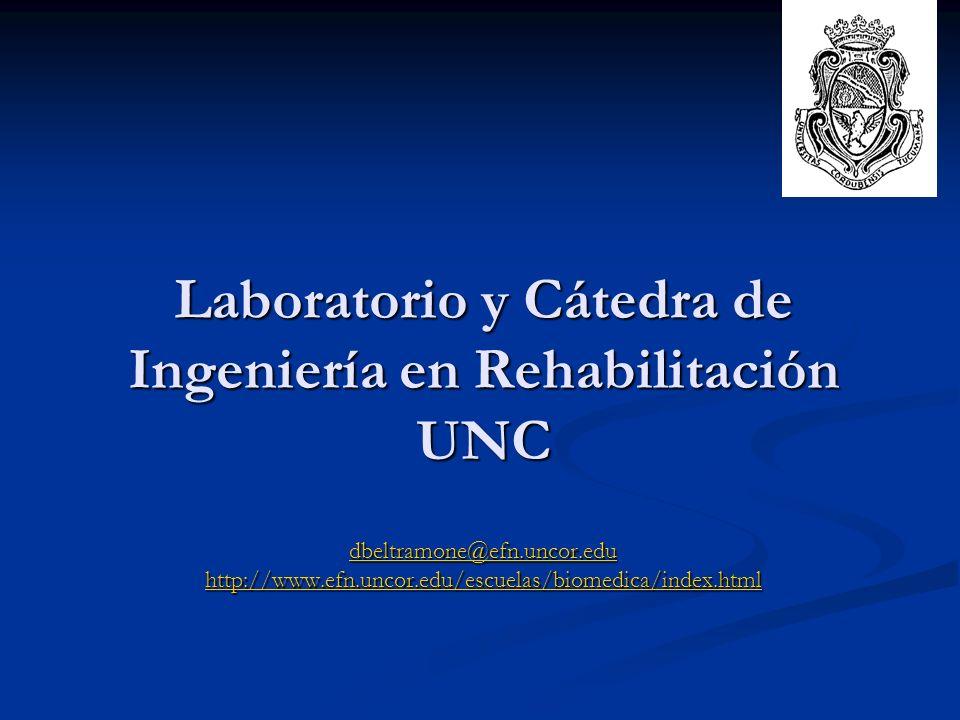 Laboratorio y Cátedra de Ingeniería en Rehabilitación UNC