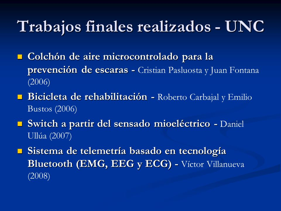 Trabajos finales realizados - UNC