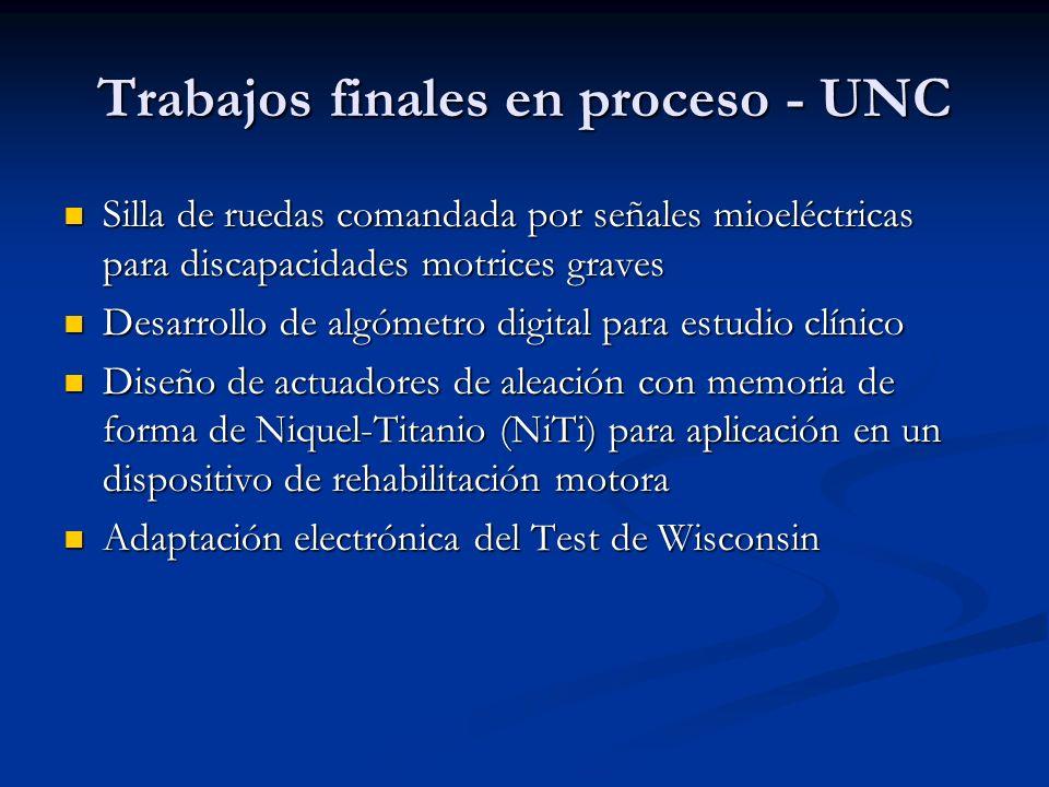 Trabajos finales en proceso - UNC