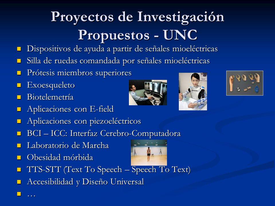 Proyectos de Investigación Propuestos - UNC