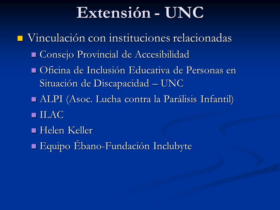 Extensión - UNC Vinculación con instituciones relacionadas