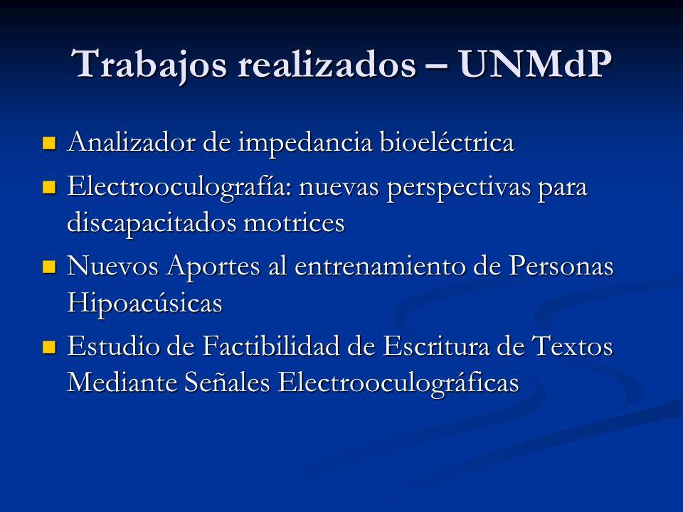 Trabajos realizados – UNMdP