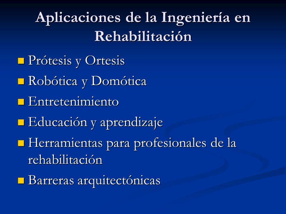 Aplicaciones de la Ingeniería en Rehabilitación