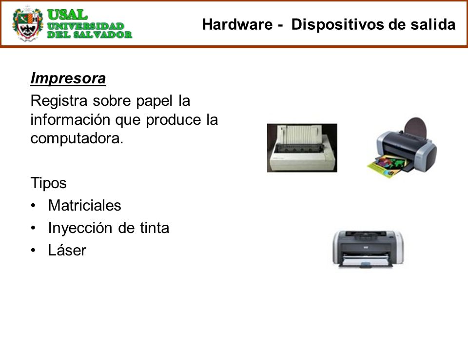 Hardware - Dispositivos de salida