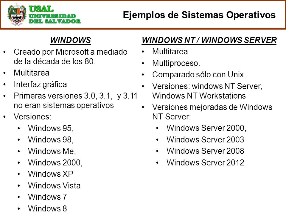WINDOWS NT / WINDOWS SERVER