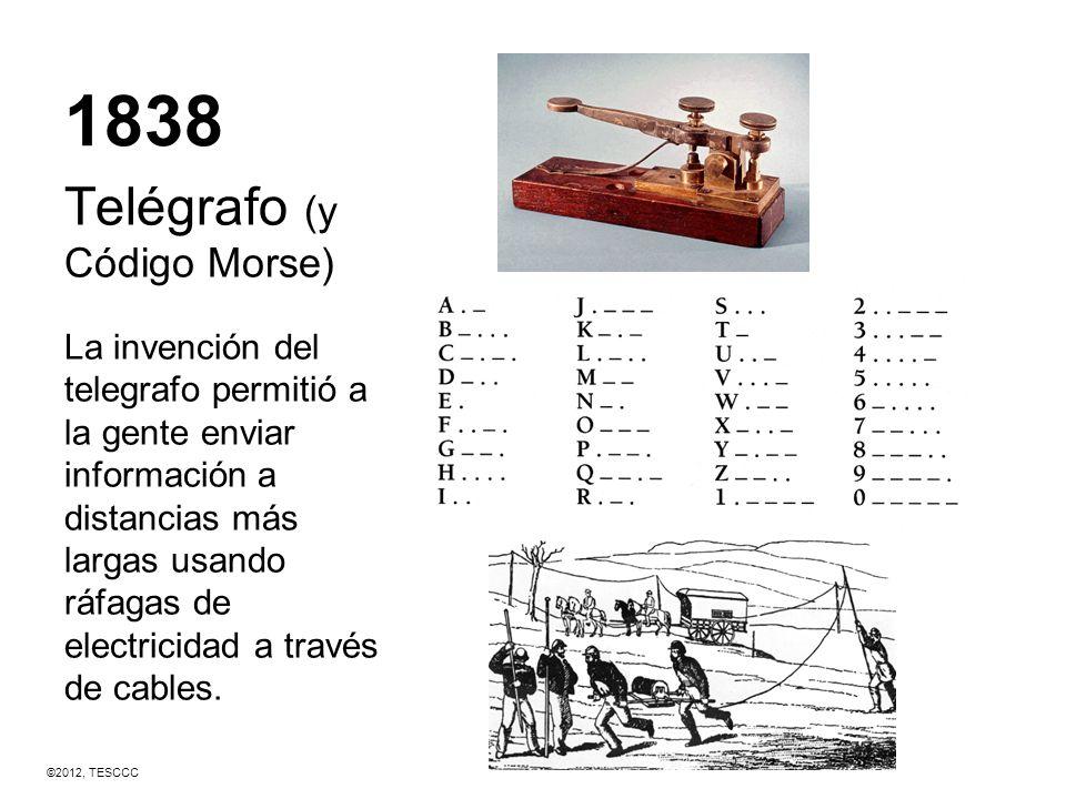 1838 Telégrafo (y Código Morse)