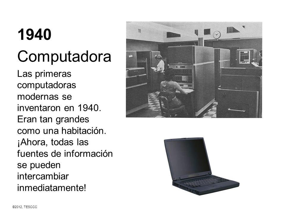 1940 Computadora.