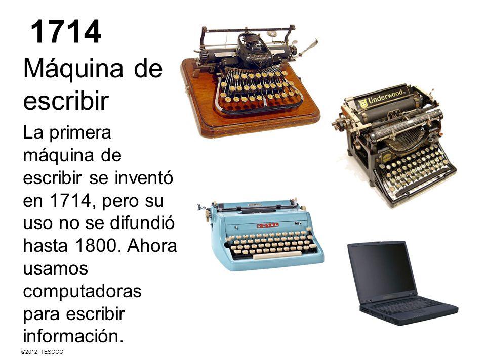 1714 Máquina de escribir.