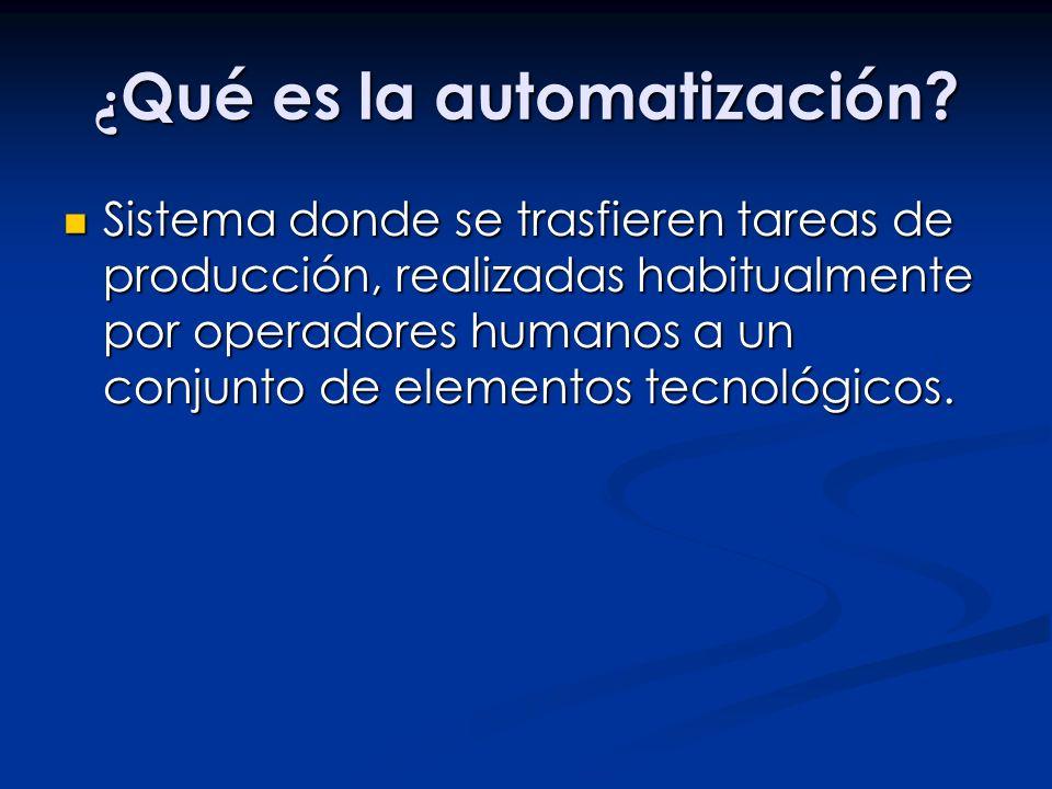 ¿Qué es la automatización