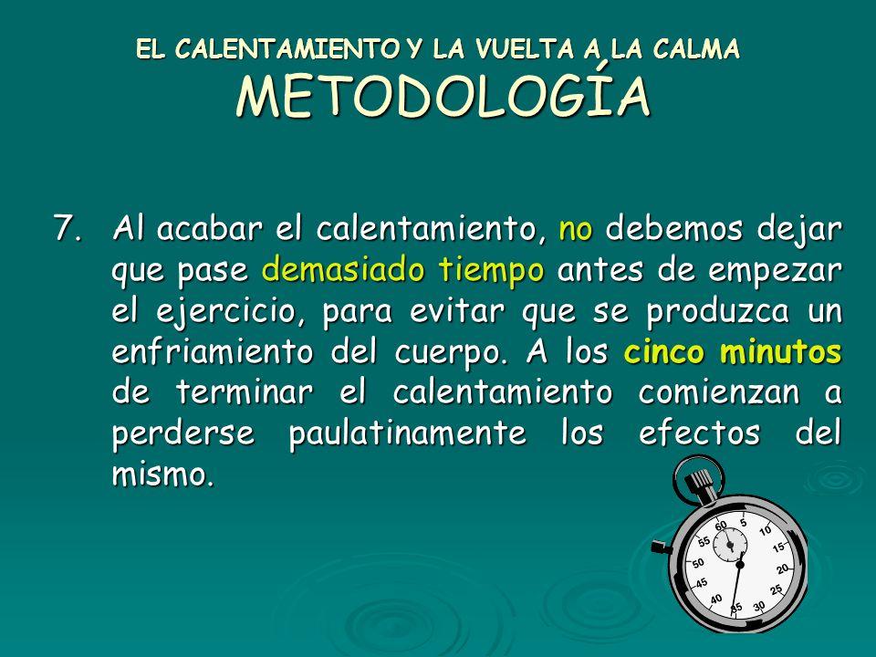EL CALENTAMIENTO Y LA VUELTA A LA CALMA METODOLOGÍA
