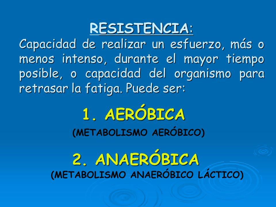 (METABOLISMO AERÓBICO) (METABOLISMO ANAERÓBICO LÁCTICO)