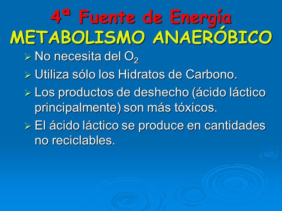 4ª Fuente de Energía METABOLISMO ANAERÓBICO