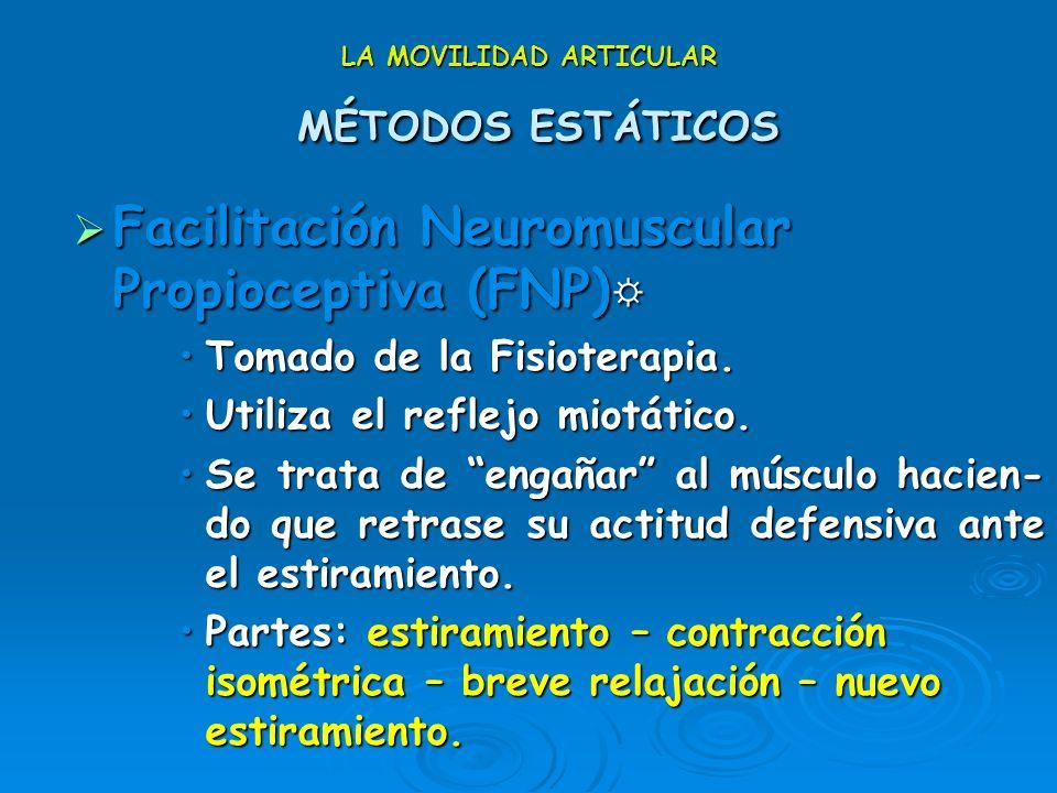 LA MOVILIDAD ARTICULAR MÉTODOS ESTÁTICOS