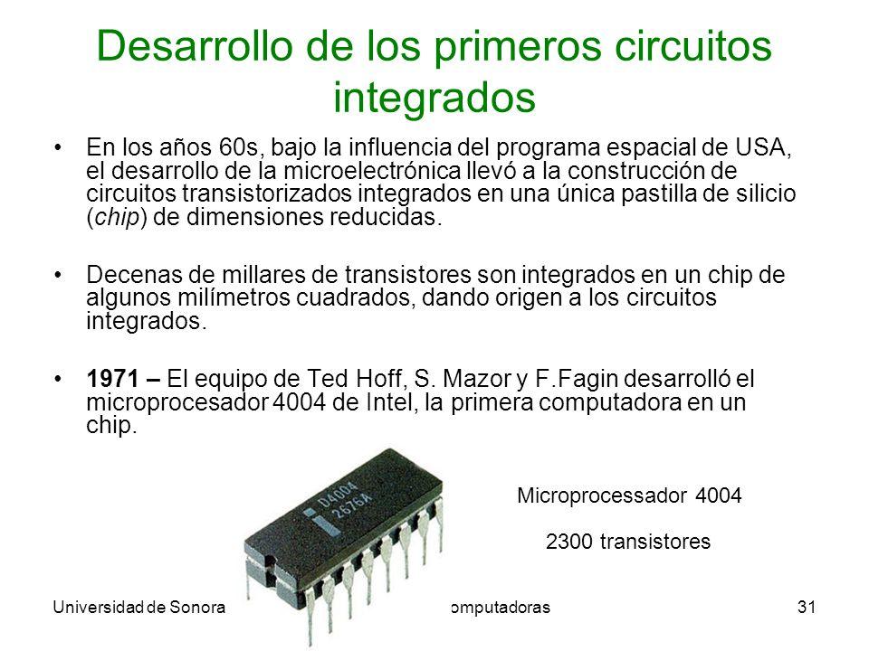 Desarrollo de los primeros circuitos integrados
