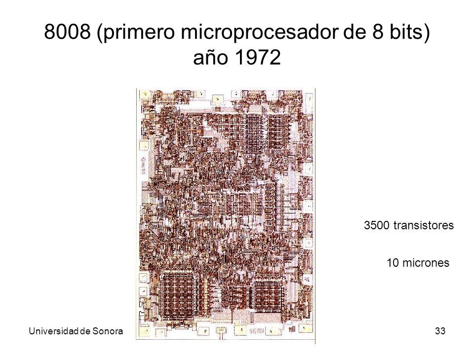 8008 (primero microprocesador de 8 bits) año 1972