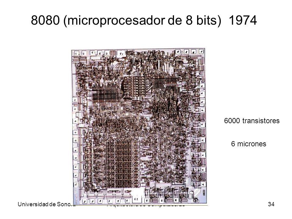8080 (microprocesador de 8 bits) 1974