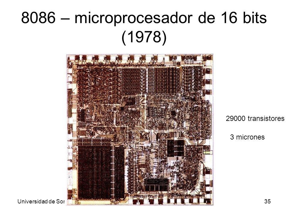 8086 – microprocesador de 16 bits (1978)