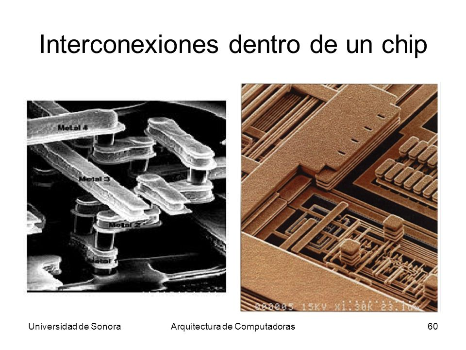 Interconexiones dentro de un chip