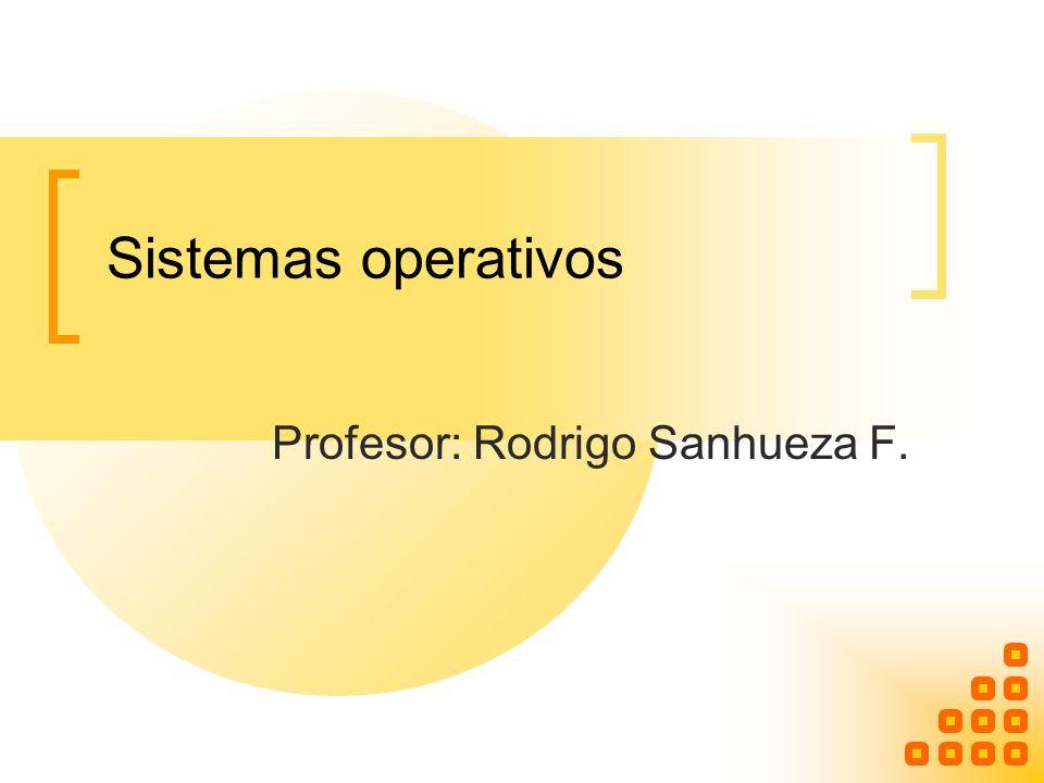 Profesor: Rodrigo Sanhueza F.