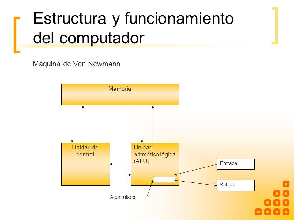 Estructura y funcionamiento del computador