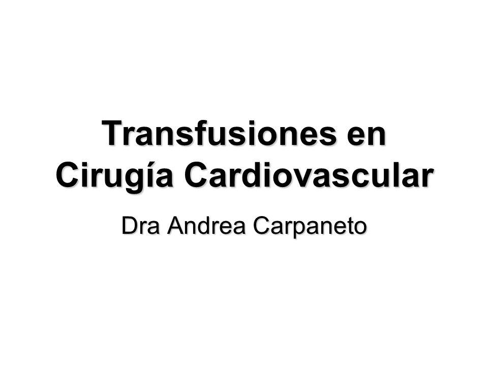 Transfusiones en Cirugía Cardiovascular