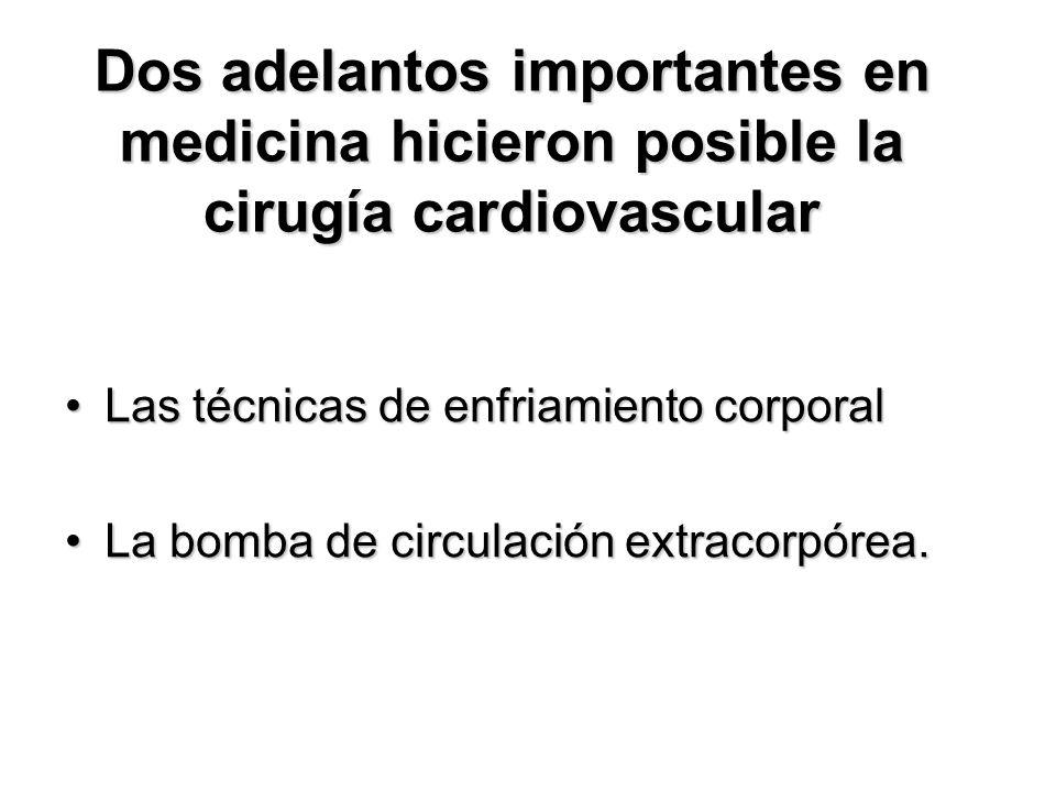 Dos adelantos importantes en medicina hicieron posible la cirugía cardiovascular
