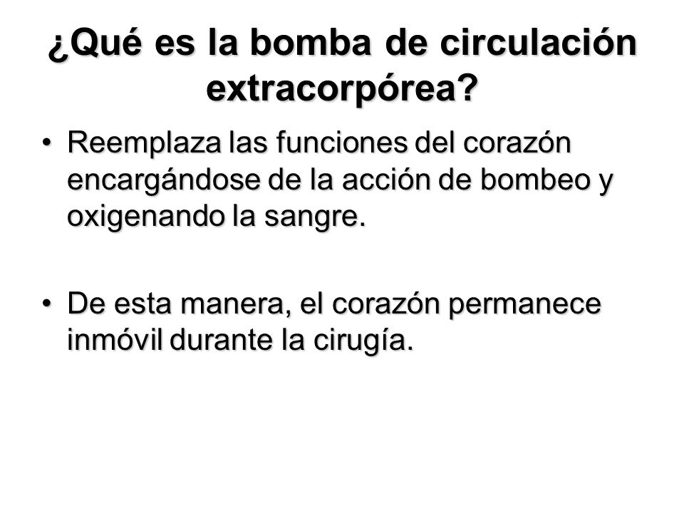 ¿Qué es la bomba de circulación extracorpórea