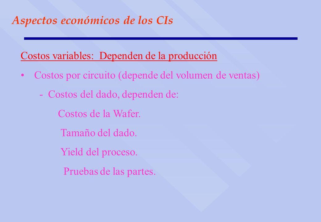 Aspectos económicos de los CIs