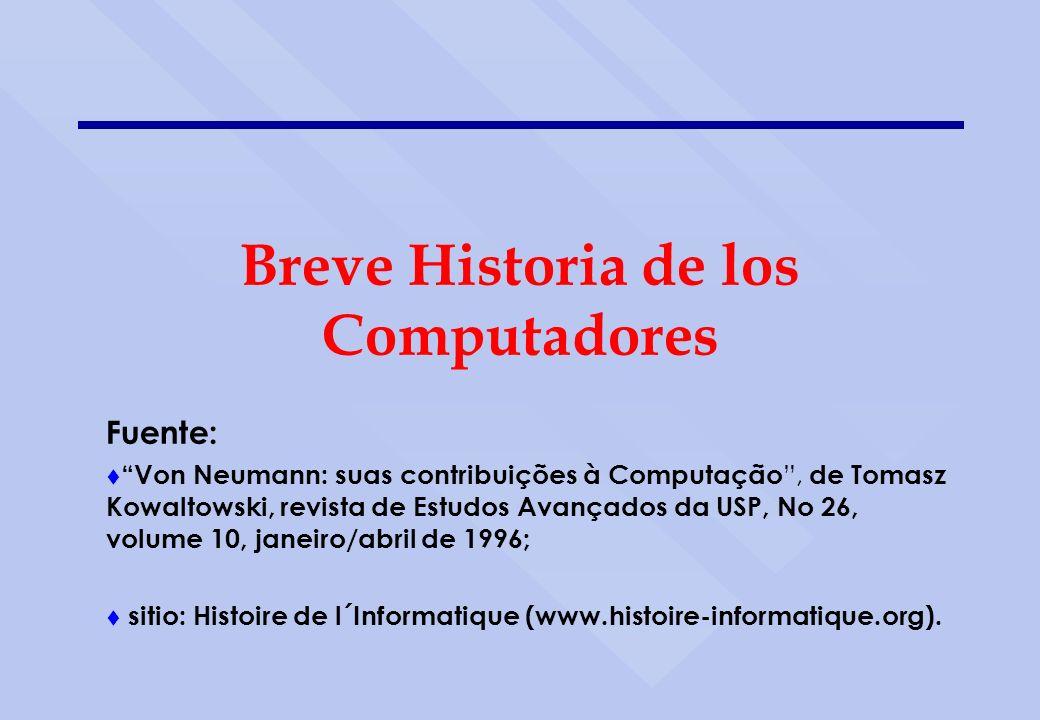 Breve Historia de los Computadores