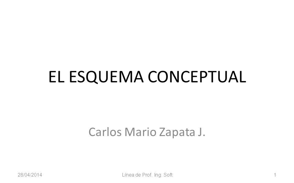 EL ESQUEMA CONCEPTUAL Carlos Mario Zapata J. 29/03/2017