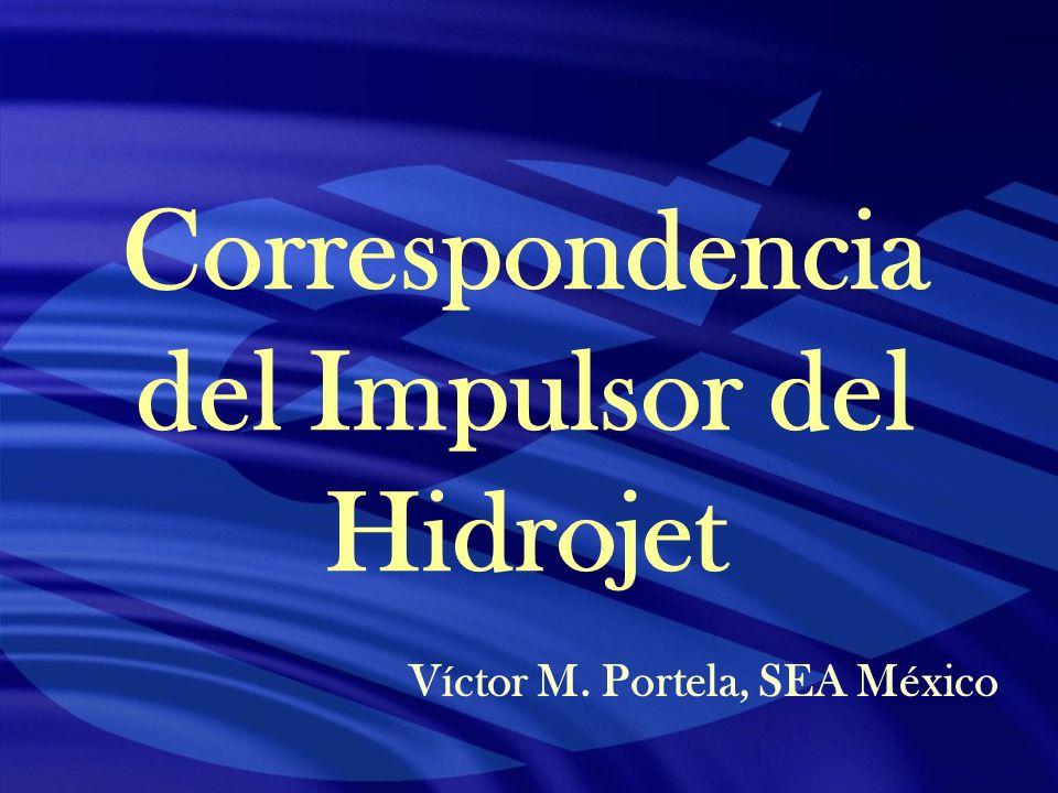 Correspondencia del Impulsor del Hidrojet