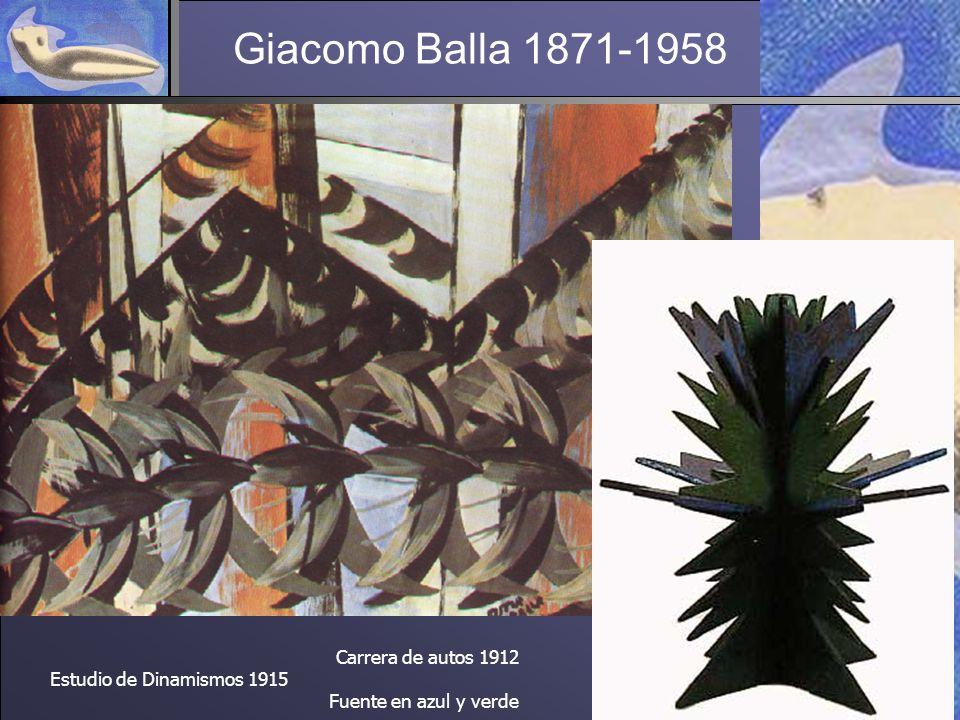 Giacomo Balla 1871-1958 Carrera de autos 1912