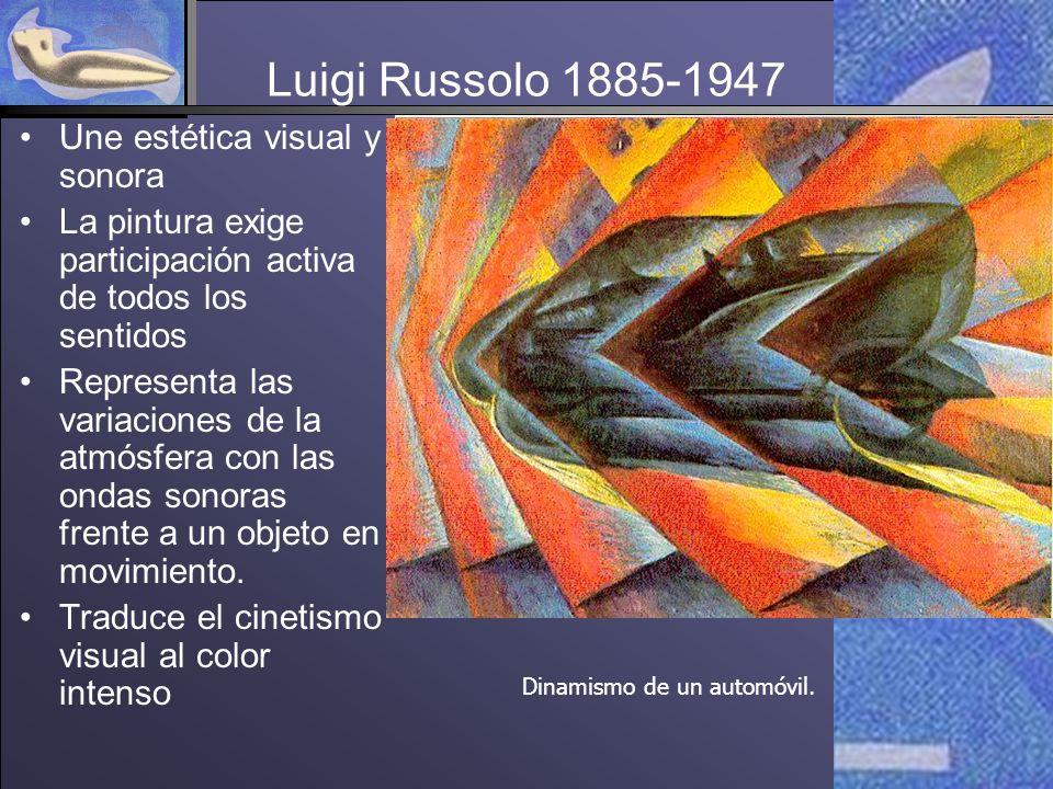 Luigi Russolo 1885-1947 Une estética visual y sonora