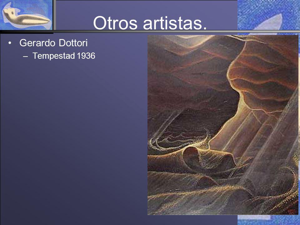 Otros artistas. Gerardo Dottori Tempestad 1936