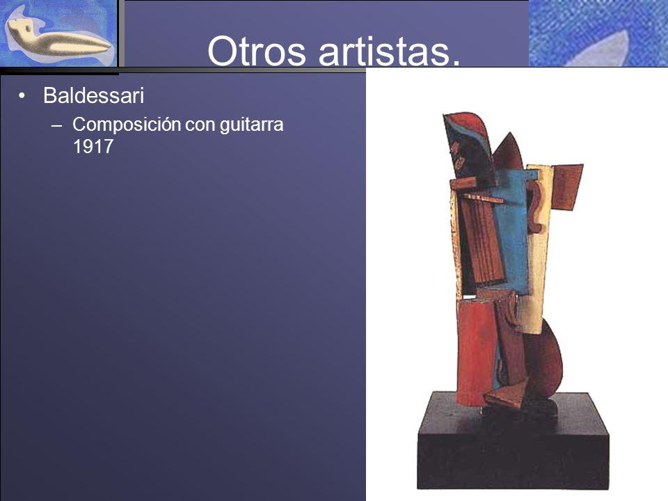 Otros artistas. Baldessari Composición con guitarra 1917
