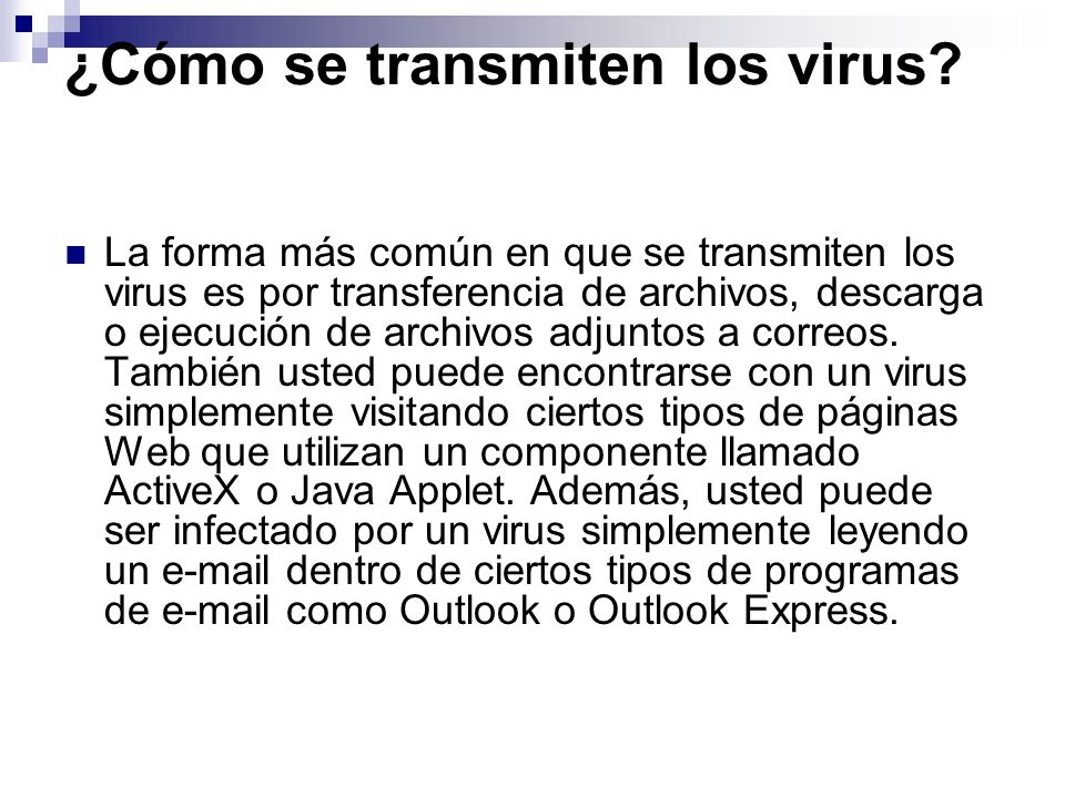 ¿Cómo se transmiten los virus