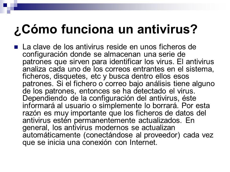 ¿Cómo funciona un antivirus