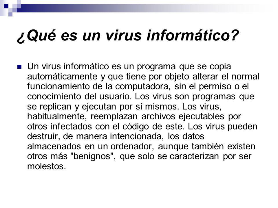¿Qué es un virus informático
