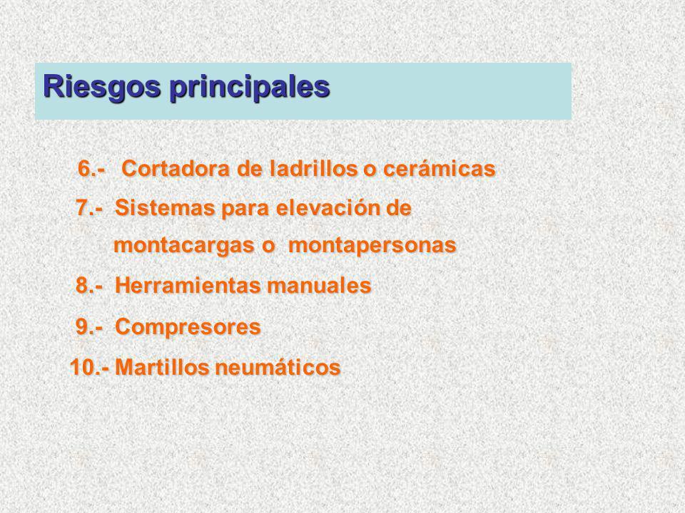 6.- Cortadora de ladrillos o cerámicas
