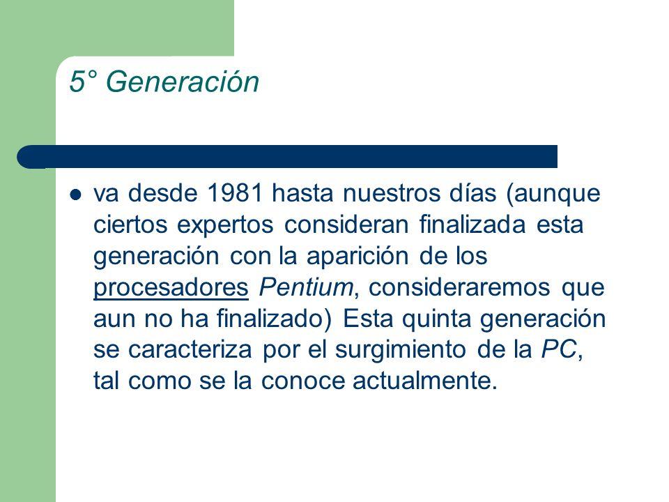 5° Generación