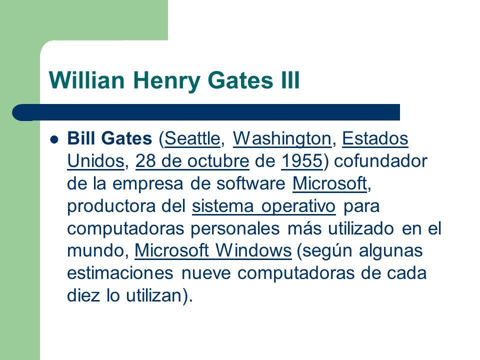 Willian Henry Gates III