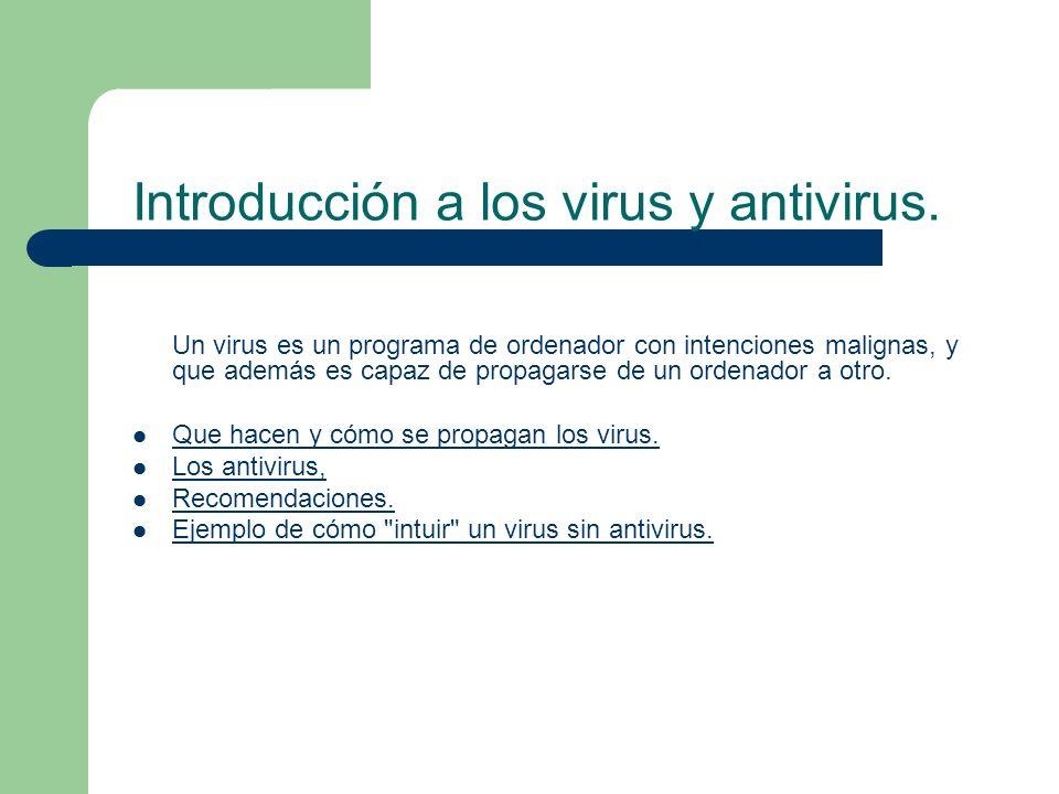 Introducción a los virus y antivirus.