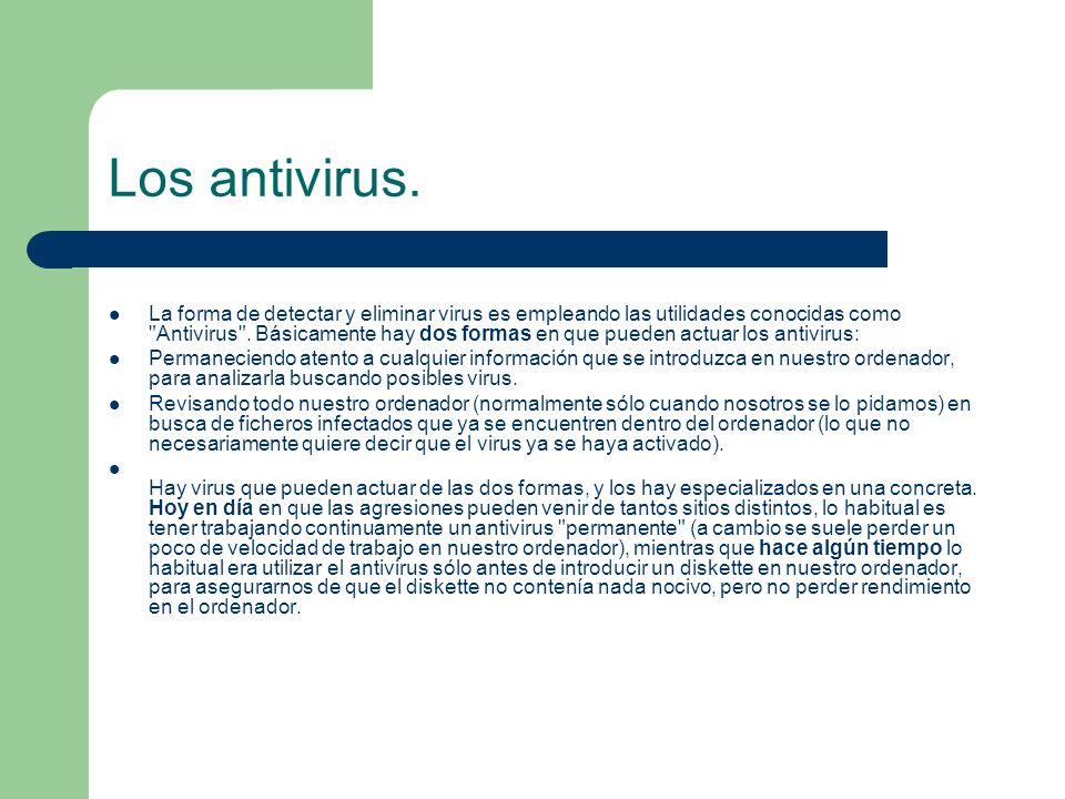 Los antivirus.